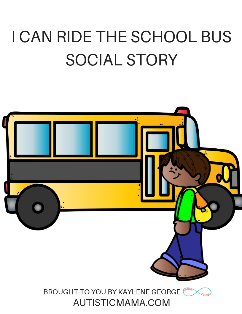 Help Autistic Children Ride the School Bus with a Social Story & Play!