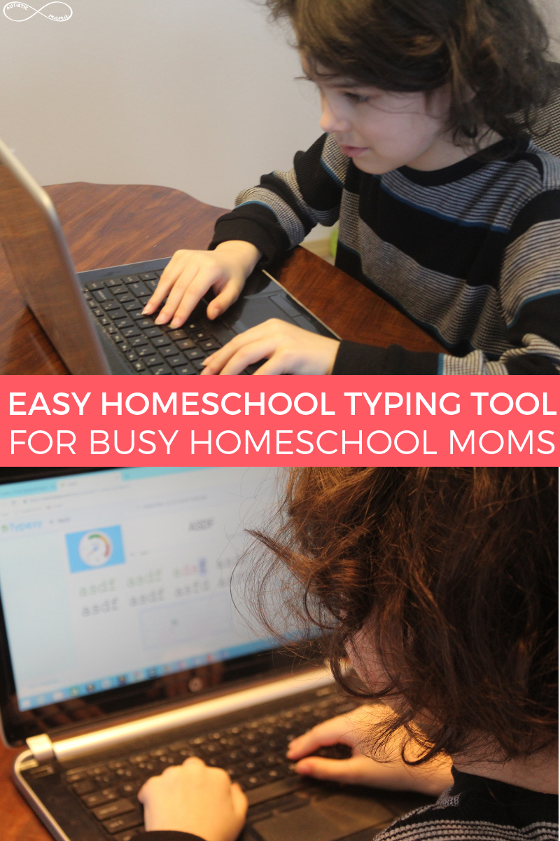 Typesy Homeschool is an easy homeschool typing tool for busy moms with comprehensive typing lessons and fun homeschool typing games!
