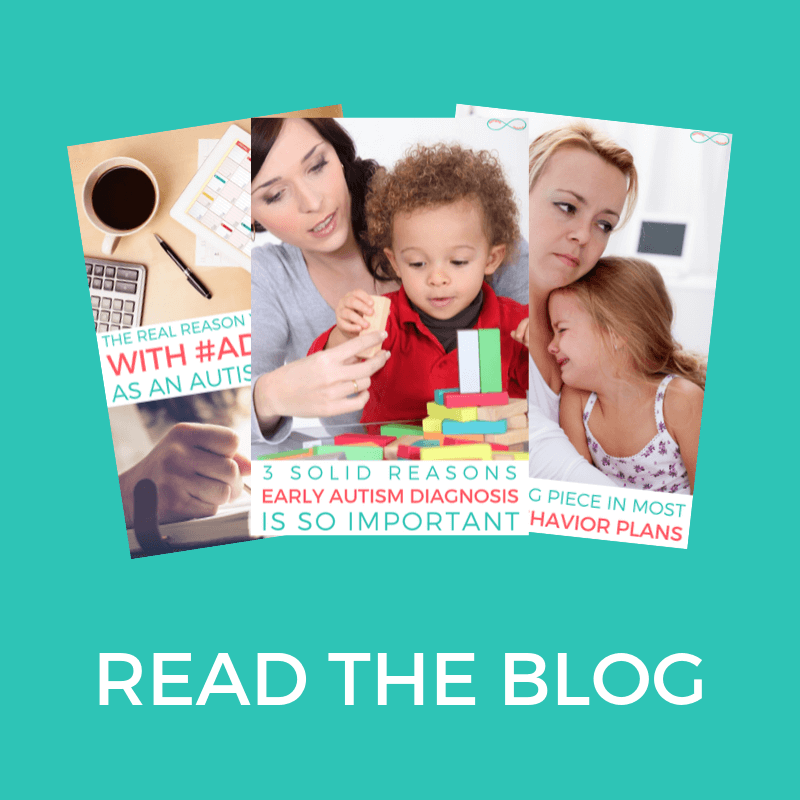 "Read the Blog | Teal background with white text that reads: ""read the blog"". Images of blog post pins."