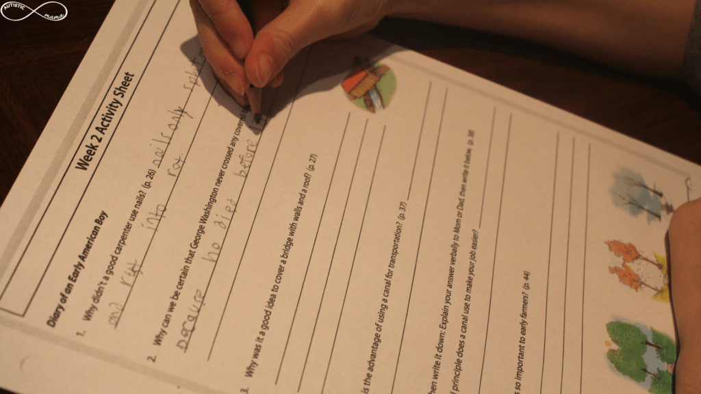 "A worksheet titled ""Week 2 Activity Sheet"" being filled in by Mr. C."
