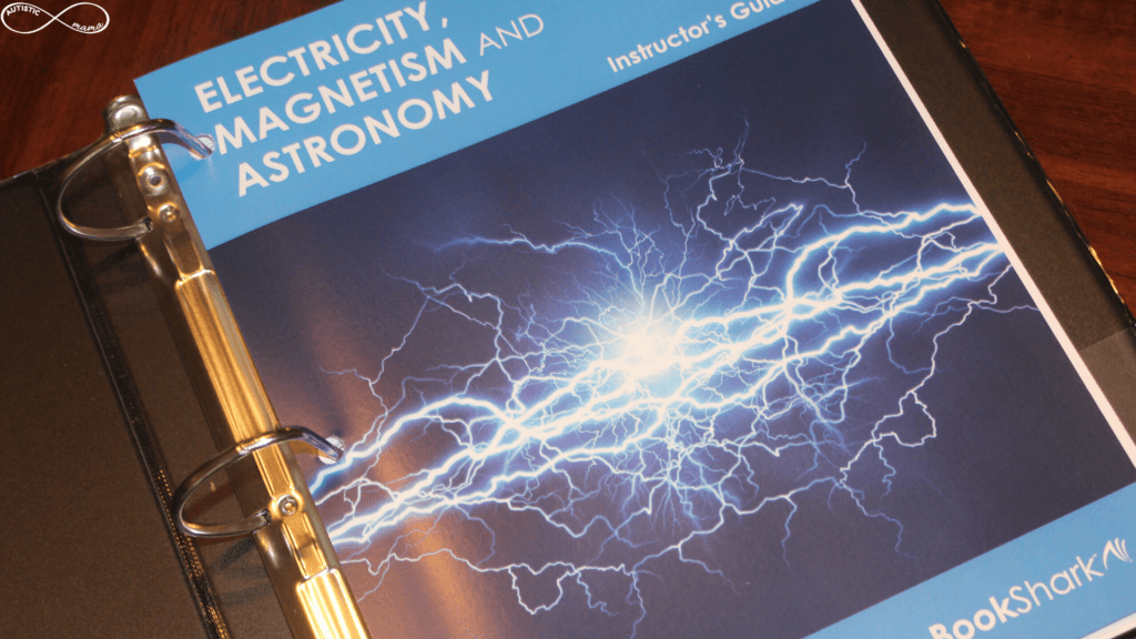 Cover of the Electricity, Magnetism, and Astronomy Instructor's Guide from BookShark.