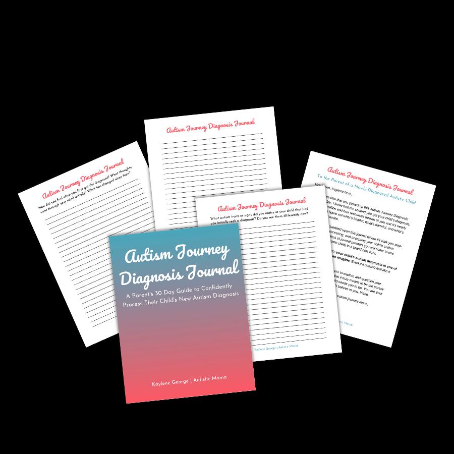 Autism Journey Diagnosis Journal Pages